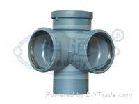 PP靜音排水管(直角四通)