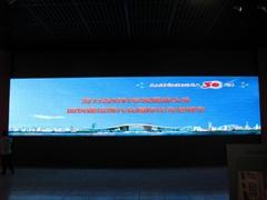 深圳市博物館室內P6表貼三合一全彩屏63平方米