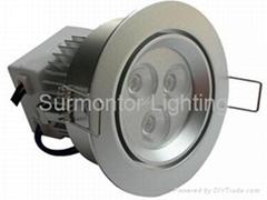 LED Downlight 3x3W/3x1W