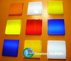 color acrylic panel