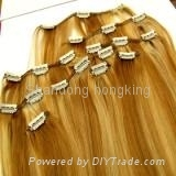 16''clips in hair extension