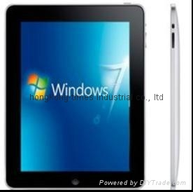 "9.7""TFTtablet pc capacitive touch screen  windows7  support wifi"