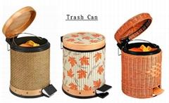 藤製垃圾桶
