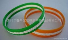 Three layer Silicone Wristband