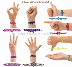 Hollow silicone bracelet