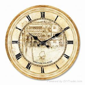 Antique Wooden Clock/Wood Clock
