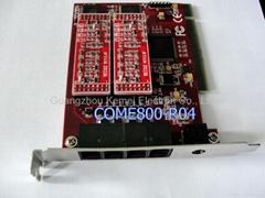 4 ports PCI telephone call voice logger card