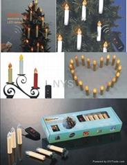 高品质出口礼品套装无线遥控电子蜡烛