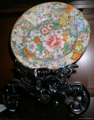 Chinese famille-rose Plates Pair (19th C)