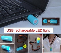 LED mini usb torch flashlight