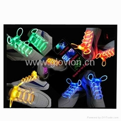 LED flashing light up shoe laces for