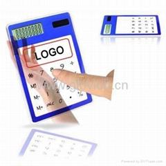 Solar powed Touch screen Transparent Calculator