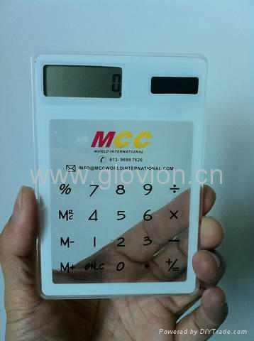 Solar powed Touch screen Transparent Calculator 5