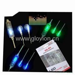 LED flashing earphone