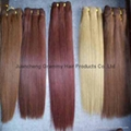 100% remy human hair weft 5