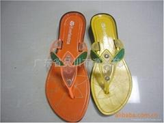 外贸非洲拖鞋黑底拖鞋161+2