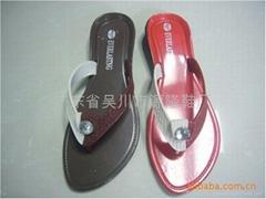 外贸非洲拖鞋黑底塑料拖鞋161+1