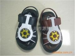 黑底童鞋塑料涼鞋童涼鞋