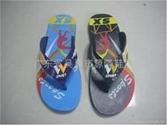 外贸非洲塑料拖鞋黑底拖鞋103