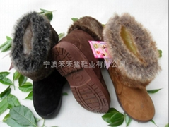 Children's slippers plush cotton-padded shoes