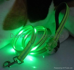 LED Dog Leash and Collar