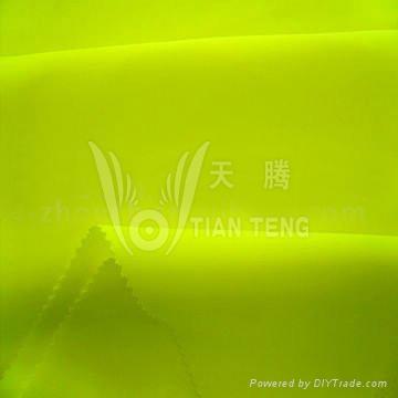 滌蓋棉熒光黃面料 1