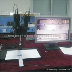 电子双镜头台式VGA显微镜 30MM检测 排线&连接器专检