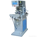 Two color big pad printing machine with shuttle