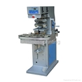 Pneumatic two color big pad printing machine with conveyor