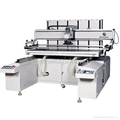 Pneumatic flatbed screen printing machine with sliding work table