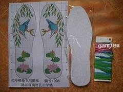 十字繡鞋墊半成品