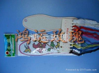 鴻運玫瑰十字繡針孔鞋墊 1