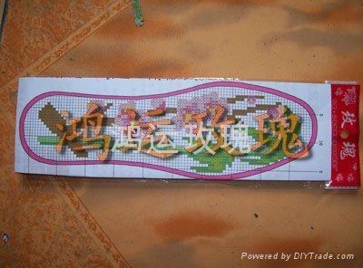 鴻運玫瑰十字繡針孔鞋墊 3