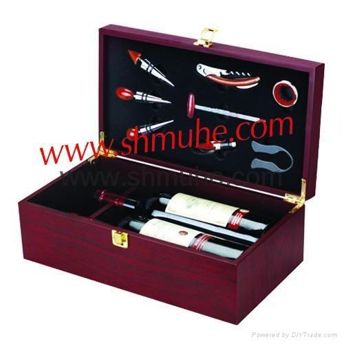 現貨供應葡萄酒木製禮盒 4