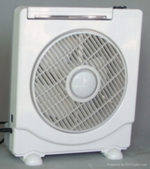 """10""""rechargeable fan with LED lamps"""