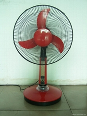 """16""""rechargeable stand fan with LED lamps"""