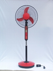 """16""""rechargeable stand fans with LED lamps"""
