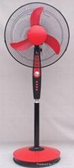 """16""""solar rechargeable emergencystand fan"""