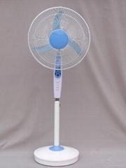 """16""""solar rechargeable emergency stand fan"""