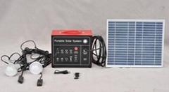 可移动太阳能系统 10W带LED灯带直流风扇
