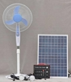 Portable Solar System 40W(with 2 LED lamps,12VDC fan,12V LCD TV)