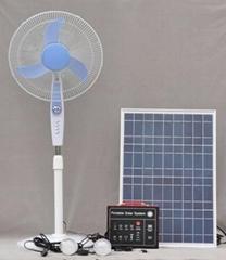 可移动太阳能系统 40W带2 LED 节能灯,12V直流风扇