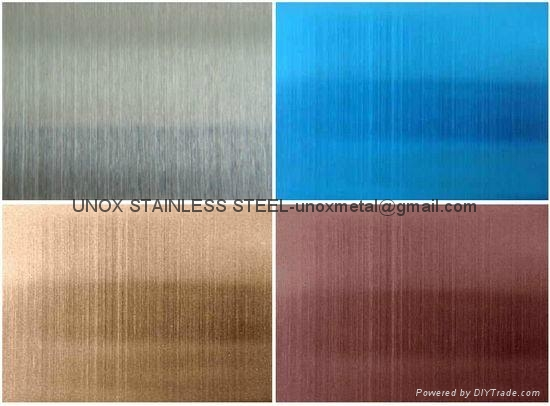 Color Grinding Stainless Steel Bronze Hairline Stainless