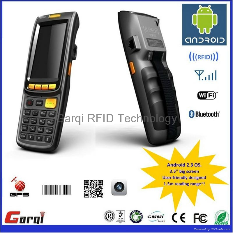 Android RFID Handheld reader with scanner GPRS 1