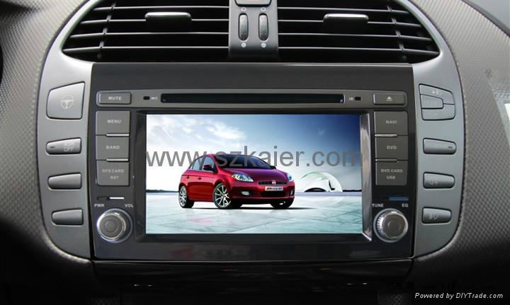 "7"" Car 2-Din DVD player for 2012 Fiat Bravo with 8CD,USB,FM,TV,IPOD and GPS 2"