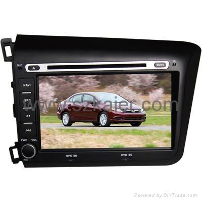 "8"" Car GPS navigation for 2012 Honda New Civic 1"