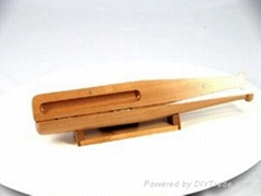 棒球形木製筆盒