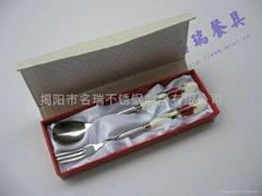中秋禮品陶瓷精品不鏽鋼餐具