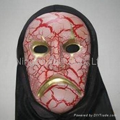 PVC halloween mask from carnival mask manufacturer