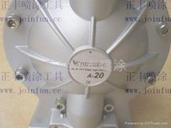 """台湾迪成1/2""""气动双隔膜涂料气动双隔膜涂料输送泵浦"""